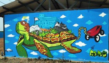 Mural de la tortuga ETCR. Foto: Bibiana Moreno