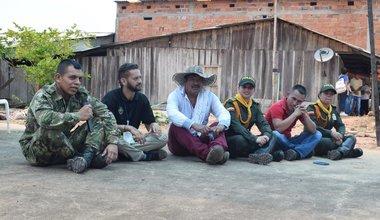 Evento de diálogo social y reconciliación entre los excombatientes, fuerza pública, víctimas y la comunidad de La Cooperativa. Foto: Jennifer Moreno
