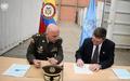 Entrega formal al Gobierno Nacional del material resultado de la inhabilitación y destrucción de todo el armamento y munición de las FARC-EP que se encontraba resguardado en el Depósito General de Armamento de la Misión.