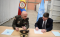 Press Release on formal delivering to Colombian Government of material resulting from laydown of arms process, that were stored in the UN Mission General Armament Warehouse