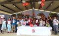 Acompañados de sus familiares, miembros de FARC de Agua Bonita se graduaron de bachilleres