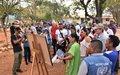En Tierra Grata celebraron tres años del acuerdo con la llegada del agua y con un festival de arte