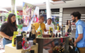 Un stand de Paz visita Popayán