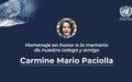 La Misión de Verificación de la ONU en Colombia rindió homenaje a Mario Paciolla.