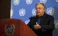 """""""Exhorto al cese de las acciones armadas y al reinicio de un diálogo serio y constructivo"""": Secretario General de Naciones Unidas, António Guterres, al finalizar visita a Colombia."""